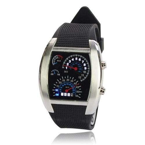 e39d45a2bcb Pánské LED hodinky Motor racing TVG stříbrné Široký výběr LED ...