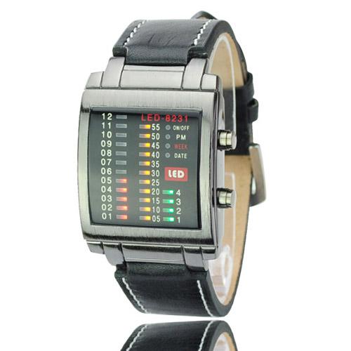Binární hodinky TVG černé Široký výběr LED hodinek a binárních ... 22a10edaa4