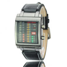 Binární hodinky TVG černé (TVG 12)